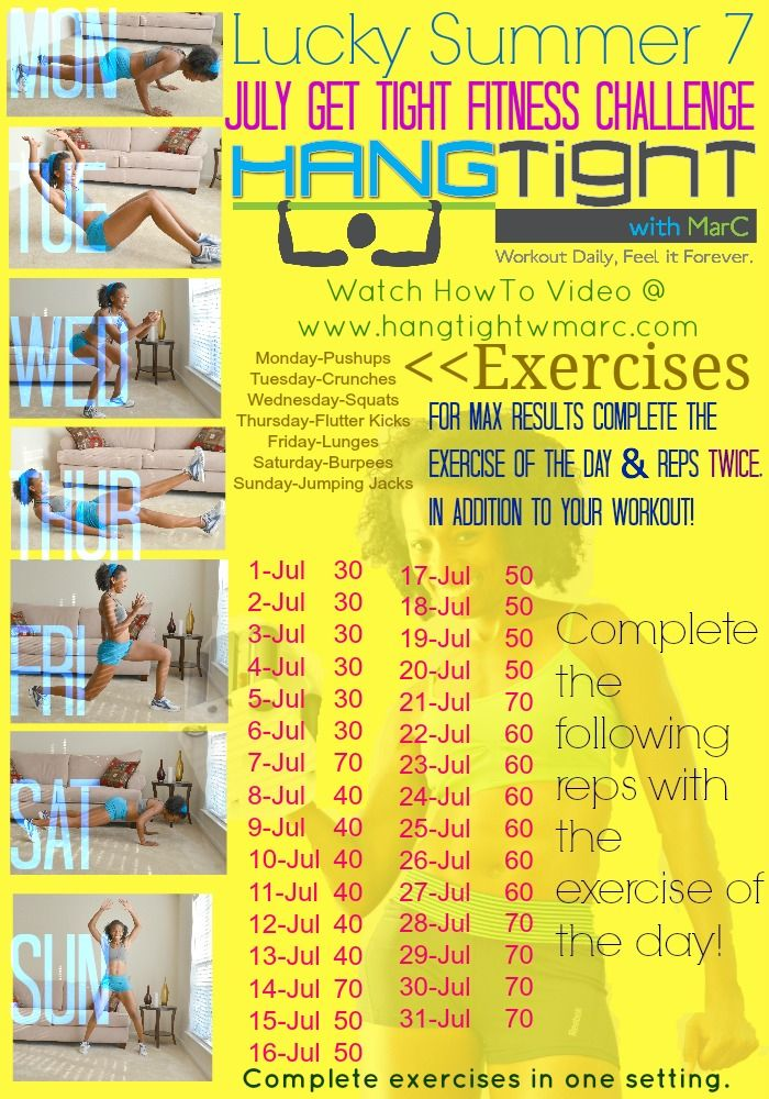 Hey YOU!! I want you to join me for the month of JULY for this AWESOME FITNESS CHALLENGE!!! VIEW HERE for more details. http://www.hangtightwmarc.com/?gt-diet-challenge=2013-july-lucky-summer-7-fitness-challenge  REPIN AND LIKE THIS POST!! Let's get everyone on PINTEREST on this Challenge!!  Watch the HOW TO VIDEO HERE! http://youtu.be/eb1REoX3Kn8