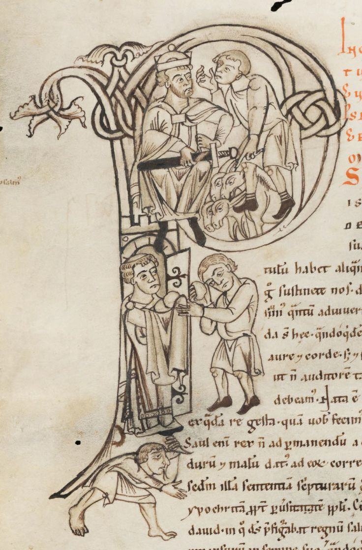Engelberg, Stiftsbibliothek, Cod. 12: Augustinus, Enarrationes in psalmos · Engelberg · 1143-1178 (http://www.e-codices.unifr.ch/fr/list/one/bke/0012)