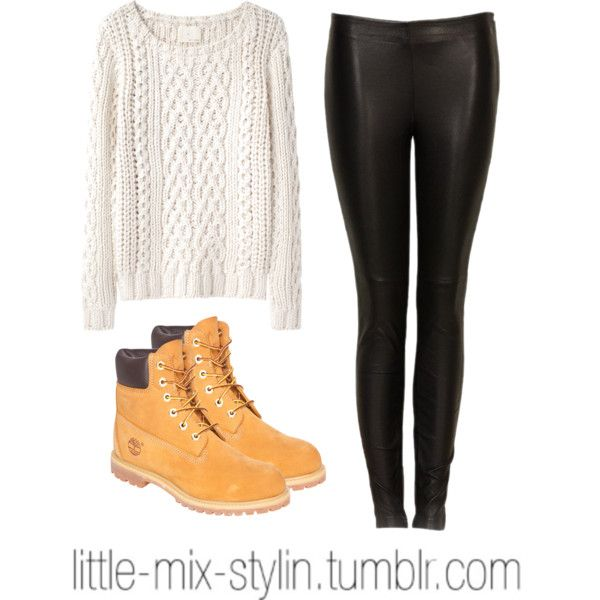 perrie inspired winter outfit ft. timberland boots by little-mix-stylin on Polyvore featuring Mode, Band of Outsiders, Timberland and dVb Victoria Beckham