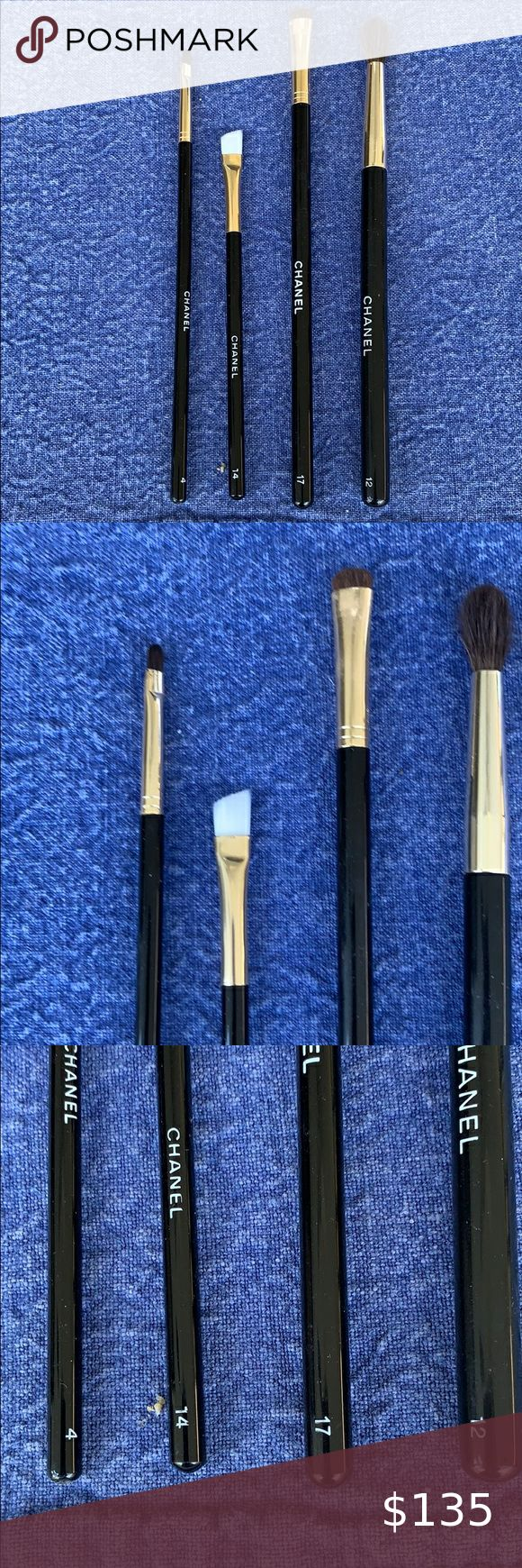 CHANEL beautiful set of 4 make up brushes in 2020 Makeup