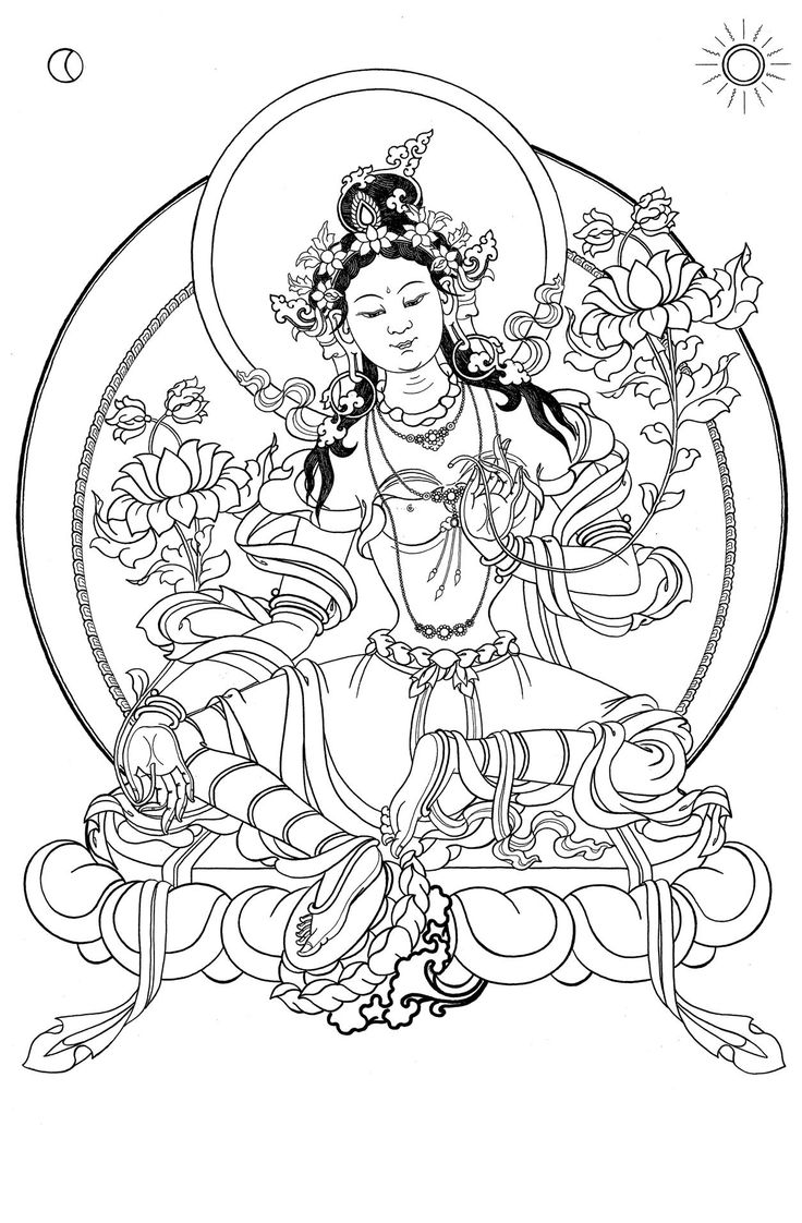 free coloring pages adults green tara - Google Search ...
