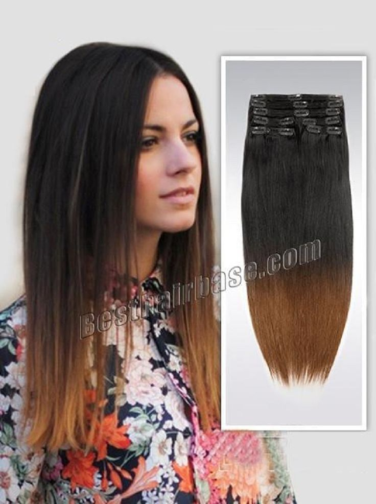 86 Best Ombre Clip In Human Hair Extensions Images On Pinterest