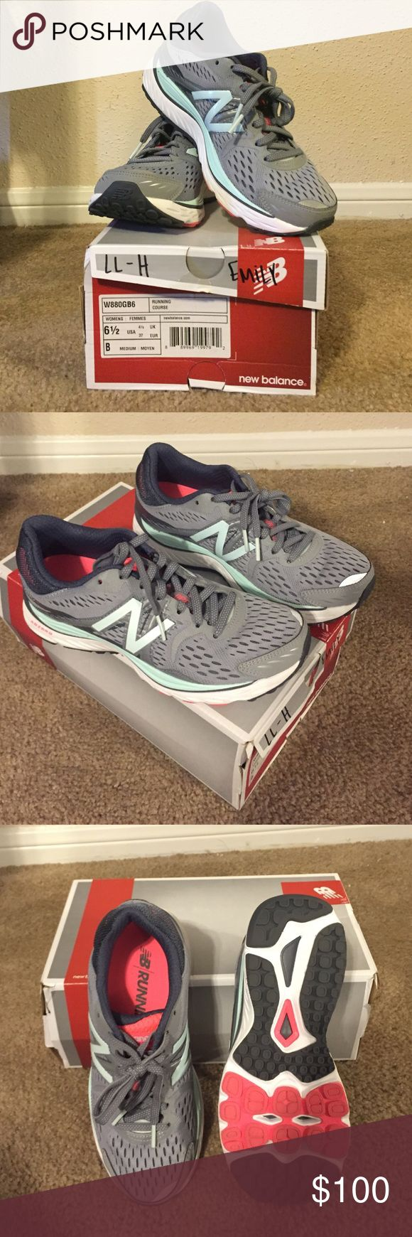 WOMEN's New balance W880v6 size: 6.5 (M) I work at a shoe store and receive shoes every 6 months to try it. (One of the benefits of working at my job). I wore these for 4 hours while working and they hurt my feet. I'm used to wearing Nike Lunarglide so these are not for me. Only been worn for 4 hours and kept it in the shoe box since. It's a great shoe but not for me New Balance Shoes Athletic Shoes