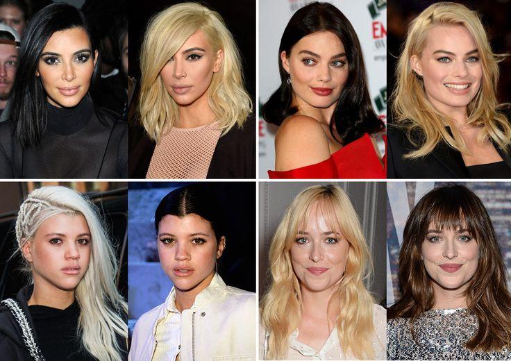 Los cambios de 'look' de las 'celebrities' ¿rubias o morenas?