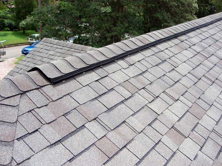 Ridge Vent installed with Independence Shingle American