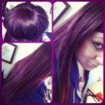 Paul Mitchell LHDC 5VR Violet/red hair sock bun long hair don't care