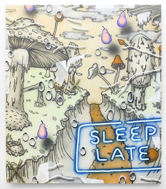 "Josh Reames, ""Sleep Late,"" 2015, acrylic on canvas, 48 x 42 in."