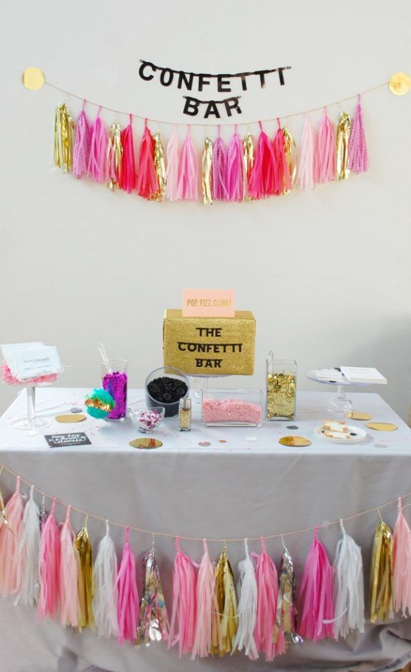 create a wedding confetti bar for your guests