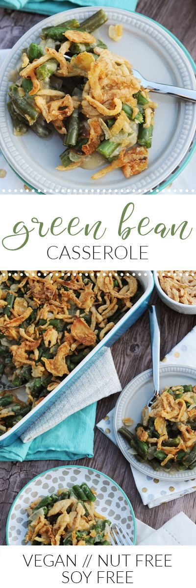 My Vegan Green Bean Casserole has all of the classic flavors you remember from your Grandma's Thanksgiving table.   via @frieddandelions