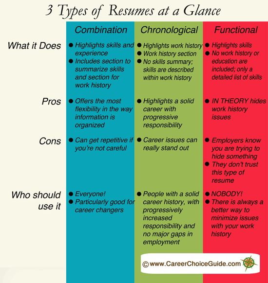 3 types of resumes explained  careerchoiceguide com  resume
