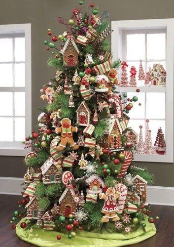 rboles de navidad decorados con dulces