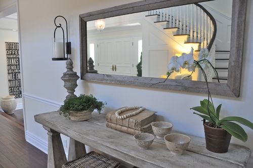 Love this chunky entry table