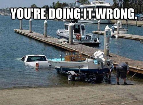 funny boat fail