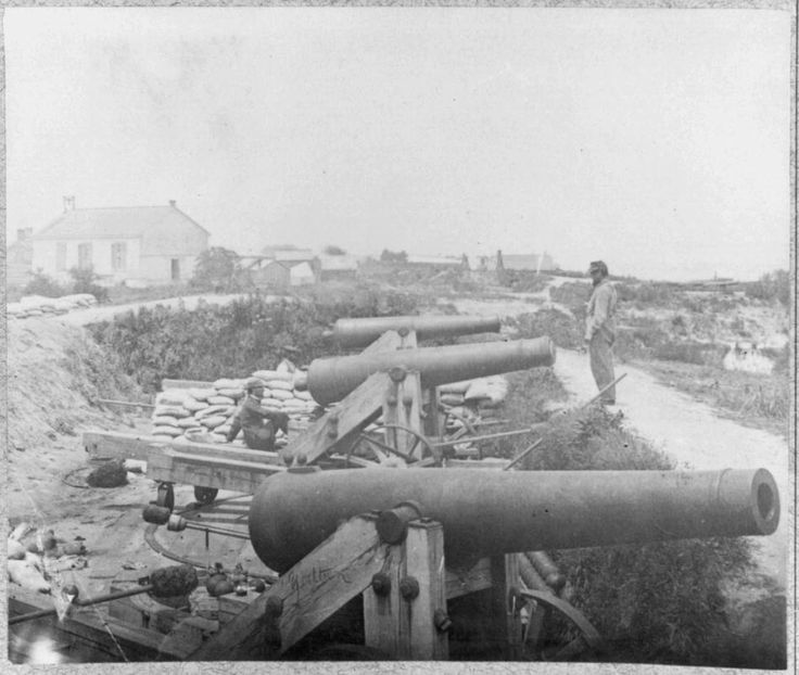 Confederate Water Battery Outside the Nelson Church, during the Siege of Yorktown, Virginia, 1862