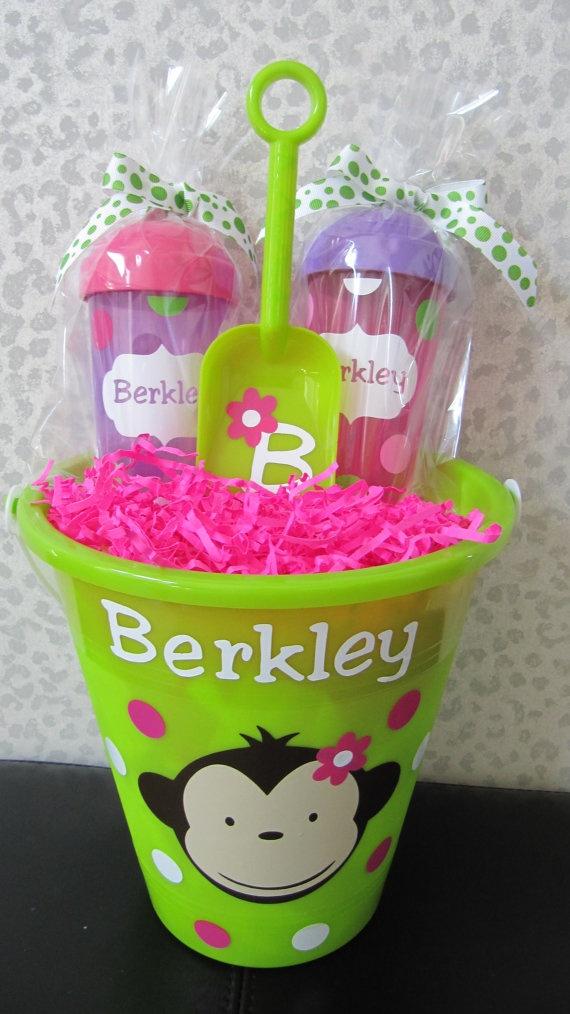 Personalized mod monkey bucket $9