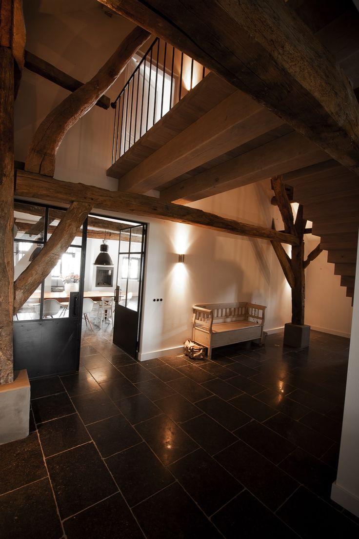 Meer dan 1000 idee n over zwarte leuning op pinterest trapleuningen zwarte trap en tin - Schorsing stijl atelier ...