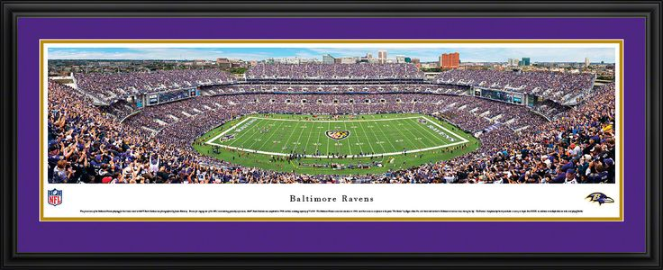 Baltimore Ravens Panoramic - M&T Bank Stadium Picture Baltimore Ravens Panoramic - M&T Bank Stadium Picture Framed