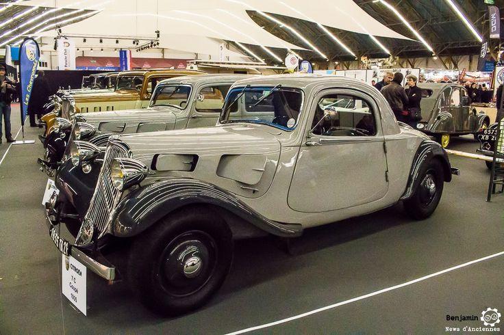 #Citroën #Traction #Coupé au salon Auto Moto Retro Dijon. Reportage complet : http://newsdanciennes.com/2016/03/19/grand-format-a-lauto-moto-retro-dijon/ #ClassicCar #Voiture #Ancienne #Vintage