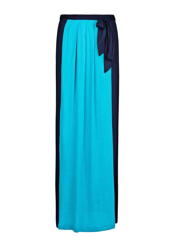 #falda #larga #oceano #bicolor @MANGO 39,99€