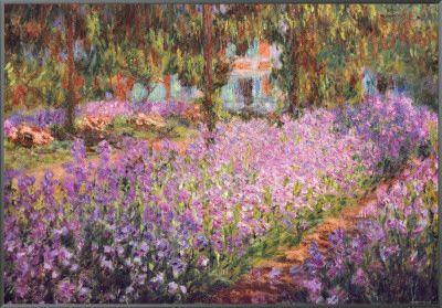 O Jardim do Artista em Giverny, c.1900 Impressão em tela emoldurada por Claude Monet na AllPosters.com.br