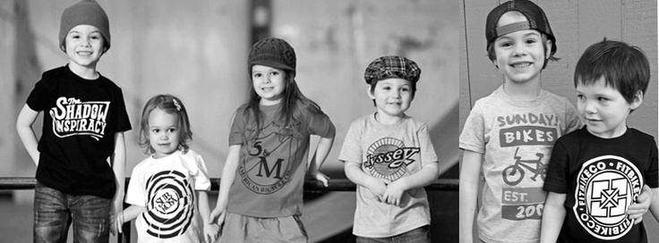BMX shirts for kids now available at WWW.RADLIKEDAD.COM We hold licenses with over 15 major BMX brands including S, Fit, Odyssey, The Shadow Conspiracy, Sunday, Subrosa, Failure, Kink, Standard, Snafu, FBM... We also carry products from Etnies, Strider, TSG, ZUM, and more.