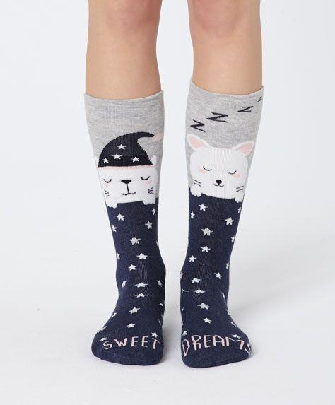 Cat and mouse socks - OYSHO
