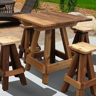 Features:  -Varnish finish.  -100% Western red cedar.  -Handcrafted.  -Made in the USA.  Table Shape: -Rectangle.  Finish: -Varnish.  Top Material: -Wood.  Country of Manufacture: -United States.  Fra