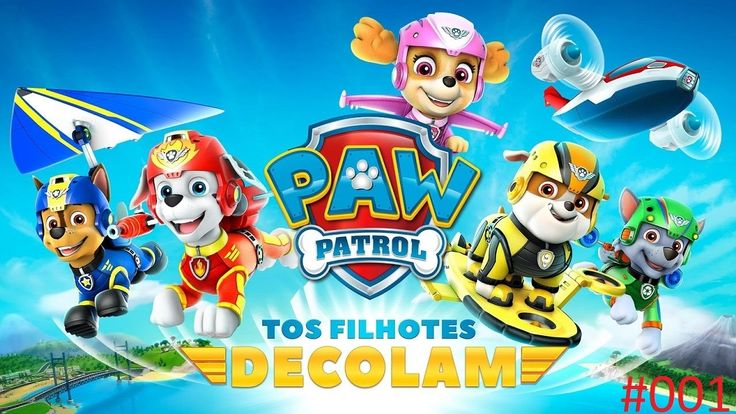 Paw Patrol the puppies take off | Patrulha Canina os filhotes decolam #001