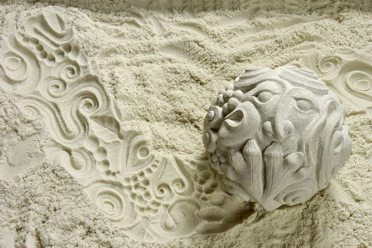 Indiana stone carving sculptor with modern sculptures for