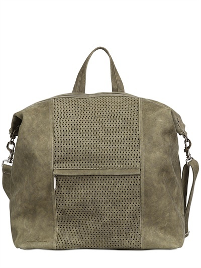 Diverso Italiano Greasy & Perforated Leather Bag