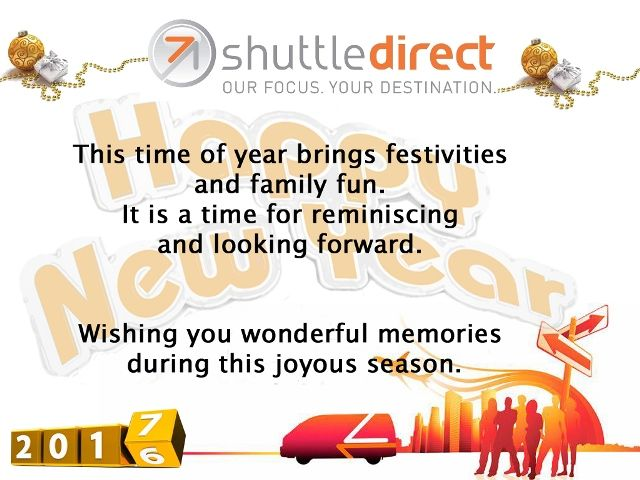 ShuttleDirect Wishes You a Safe Journey