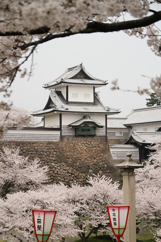 Kanazawa castle (?), Japan by richard evea | Flickr - Photo Sharing!