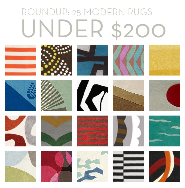 Roundup of 25 modern rugs for under $200!