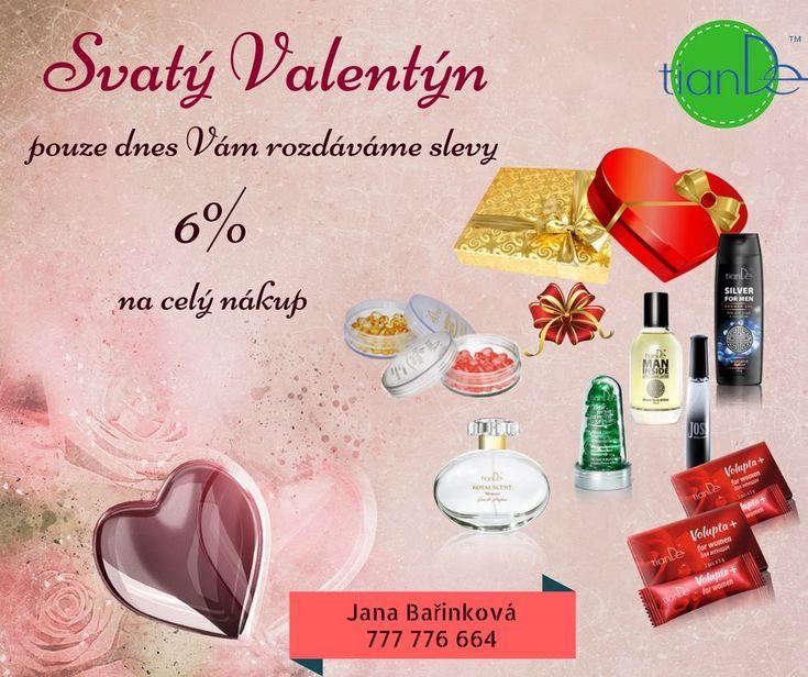 Ještě nemáte naši VIP kartičku, abyste mohli nakupovat za zvýhodněné ceny? Klikněte zde na tlačítko Poslat zprávu a hned vaši žádost vyřídíme :-) 📧  Dnes navíc Valentýnský dárek - sleva 6% navíc na celý nákup ♥  https://tiandevasezdraviakrasa4.webnode.cz/vyhodny-start/  #tiande #kosmetika #valentýn #slevy #dárky