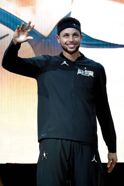 Stephen Curry enters at the 67th NBA AllStar Game Team LeBron Vs Team Stephen at Staples Center on February 18 2018 in Los Angeles California