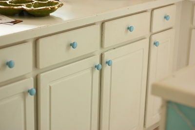 błękite, ceramiczne gałki do mebli
