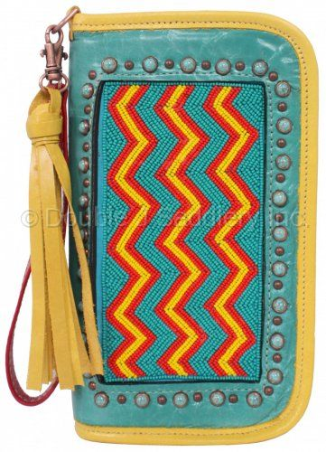 Beaded Chevron Clutch Organizer by Double J Saddlery