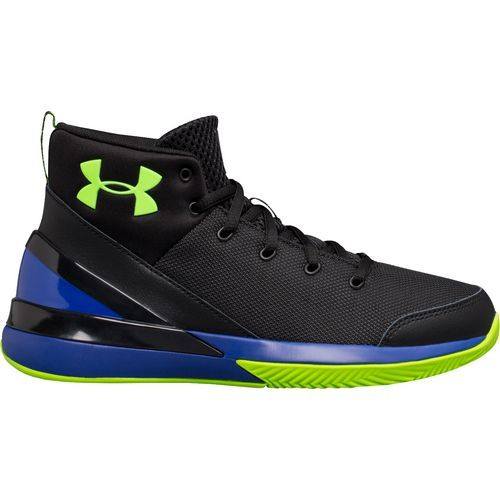 Under Armour Boys' X Level Ninja Running Shoes (Black/Bright Green, Size 6.5) - Youth Running Shoes at Academy Sports