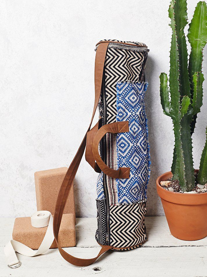 tribal inspired print yoga bag