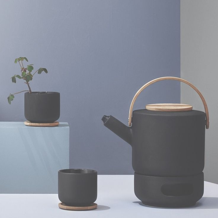 Stelton's Theo range is designed by Frank Cayouette. Sleek & sophisticated, this teapot is the perfect piece for enjoying that special cup of tea that makes everything better. Classic blackish brown  Scandinavian stoneware with a cast iron finish, this has a great tactile feel as well as stylish to look at. A fusion of cool Scandinavian lines & style with Asain tea culture, this is accentuated by the tactile warmth of the asian bamboo lid and handle, offsetting against the sleek black…