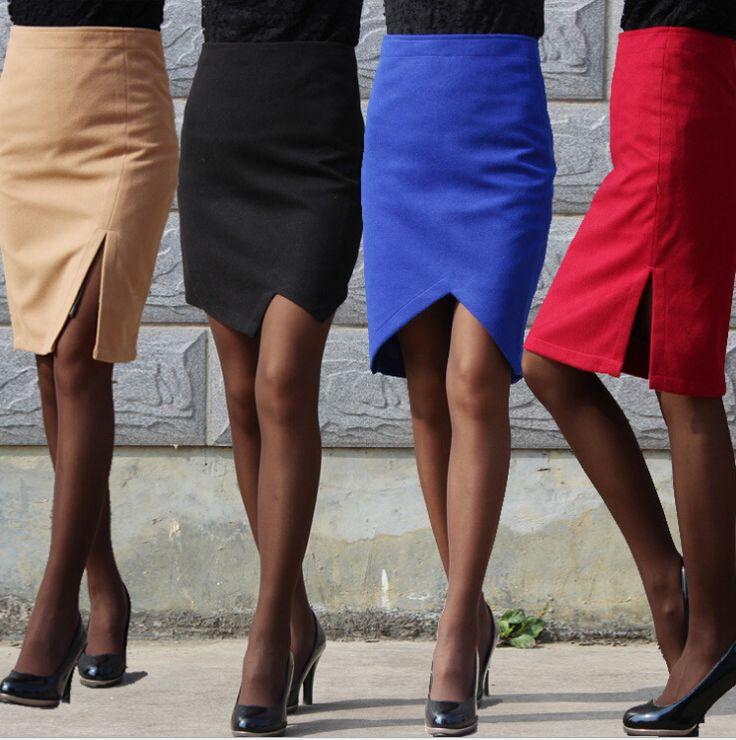 4 estilos 2015 Femininas falda hasta la rodilla faldas lápiz más el tamaño mujeres otoño invierno moda cadera delgada de cintura alta paso Saia 0087(China (Mainland))