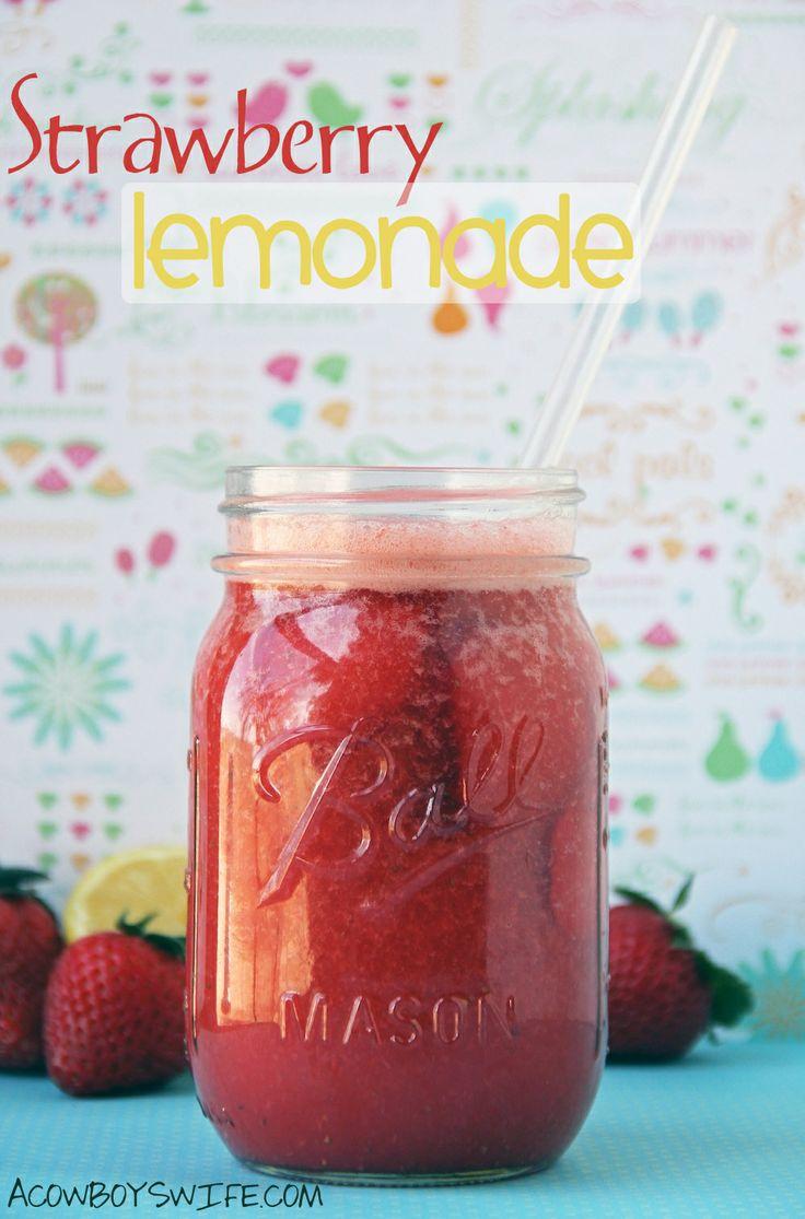 Homemade Strawberry Lemonade via @Lori Bearden Falcon   Recipes ...