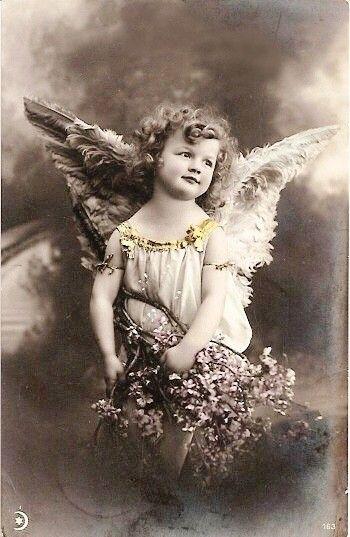 A tattered angel in progress!
