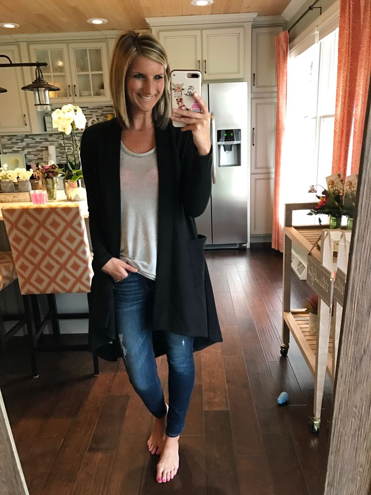 High low fleece cardigan - perfect transitional sweater! So soft and under $50! Click on the photo for the links to shop!