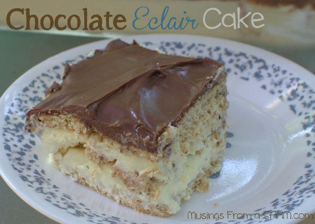 Chocolate Eclair Cake Dessert {Recipe}