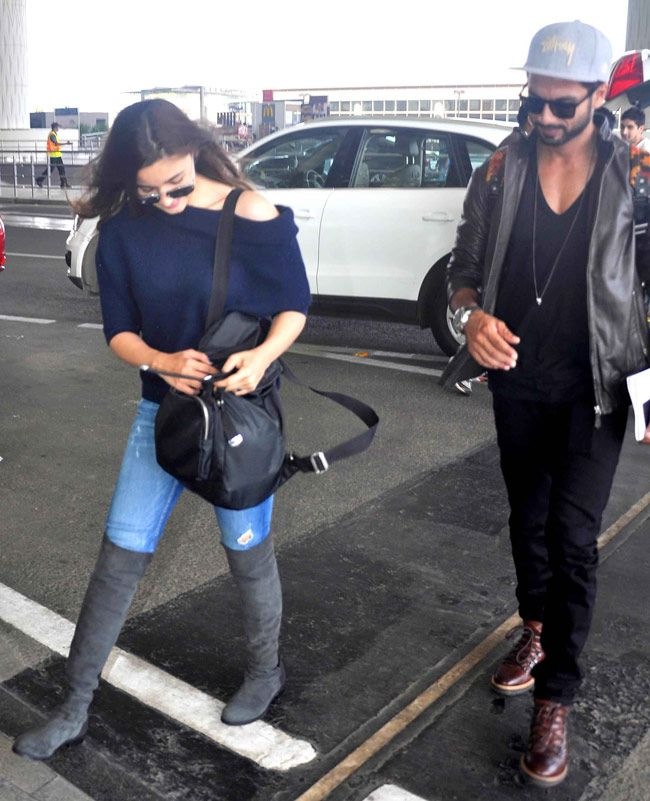 Where are Alia and Shahid off to?