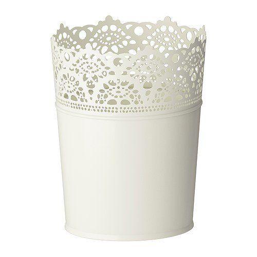 Ikea Cache-pot Acier galvanisé Motif fleuri Blanc 12 cm: Amazon.fr: Luminaires et Eclairage