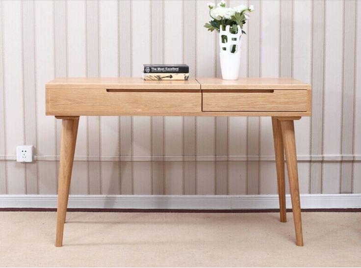 Japanese pure solid wood furniture/ modern minimalist dresser / oak bedroom furniture JP17