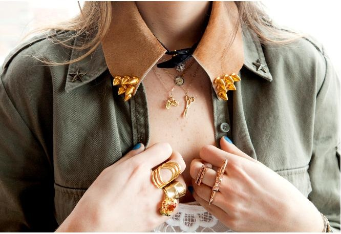 Your Perfect Look: STUDDED COLLAR.-