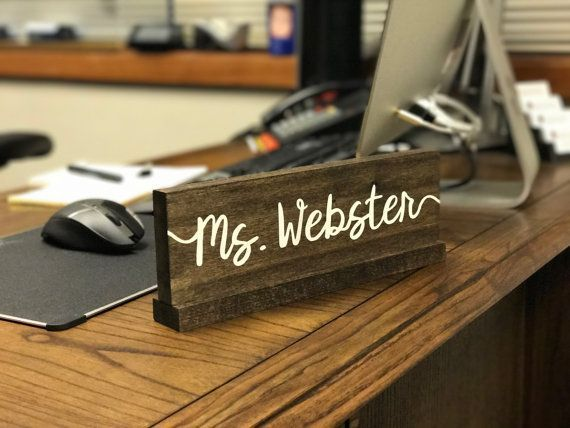 Personalized Desk Name Plate / Teacher Desk Sign by OzarkFarmhouse